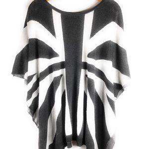 THE CLASSIC British Flag Knit Poncho
